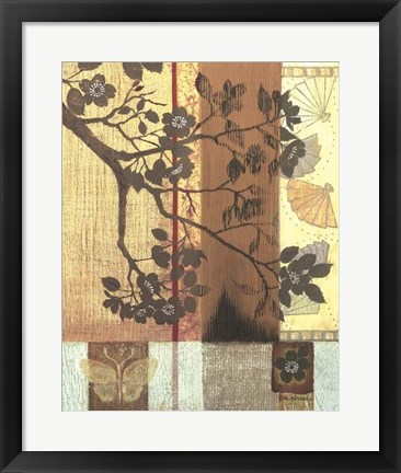 Framed Asian Blossoming Branch Print