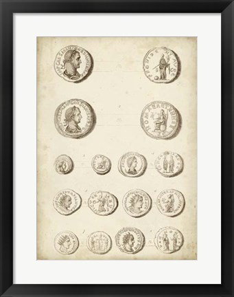 Framed Antique Roman Coins II Print