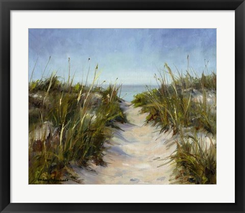 Framed Seagrass and Sand Print