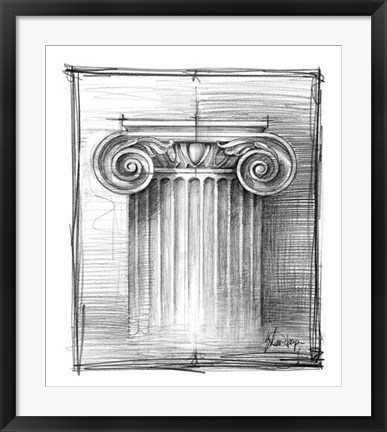 Framed Non-Embellished Decorative Ornament III Print
