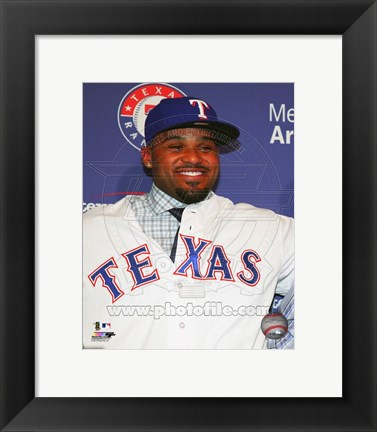 Framed Prince Fielder 2013 Press Conference Print