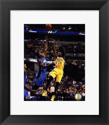 Framed Paul George 2013-14 Action Print