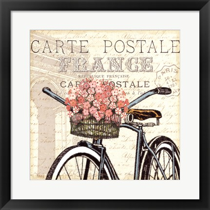 Framed Paris Ride II Print