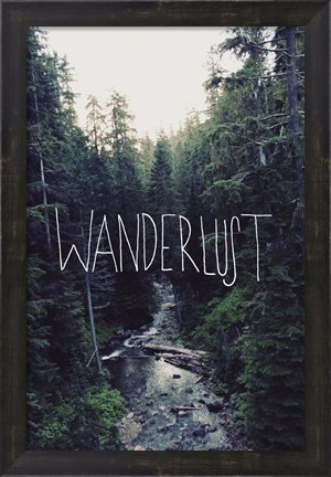 Framed Wanderlust Rainier Creek Print
