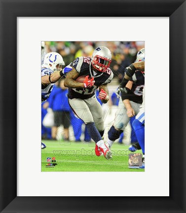 Framed Stevan Ridley 2013 Playoff Action Print