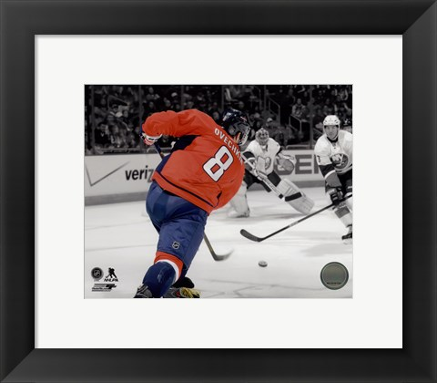 Framed Alex Ovechkin 2013-14 Spotlight Action Print