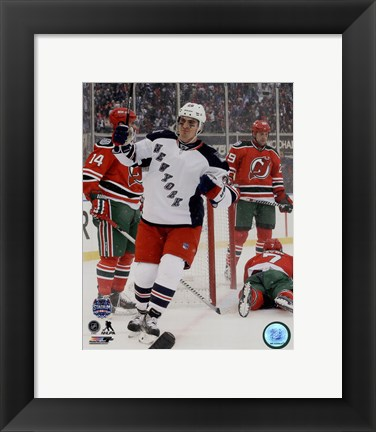 Framed Chris Kreider 2014 NHL Stadium Print
