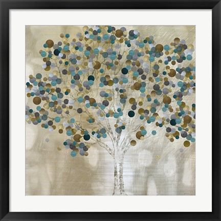 Framed Teal Tree Print