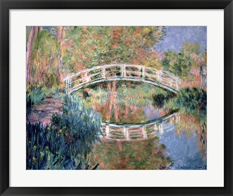 Framed Japanese Bridge, Giverny, 1892 Print