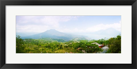 Framed Volcanos and Lake Batur, Kintamani, Bali, Indonesia Print