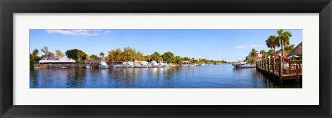 Framed Intercoastal waterway at West Palm Beach, Palm Beach County, Florida, USA Print