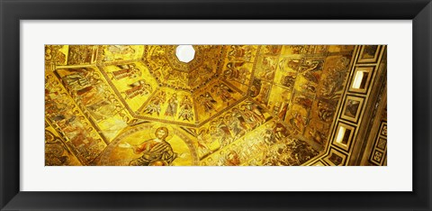 Framed Baptistery mosaic ceiling, Battistero Di San Giovanni, Florence, Tuscany, Italy Print