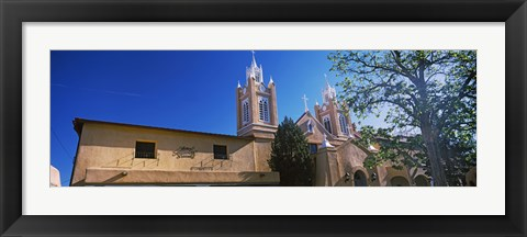 Framed Low angle view of a church, San Felipe de Neri Church, Old Town, Albuquerque, New Mexico, USA Print