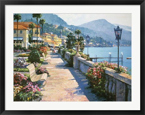 Framed Bellagio Promenade Print
