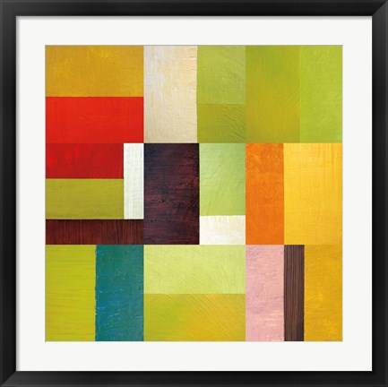 Framed Color Study Abstract 2 Print