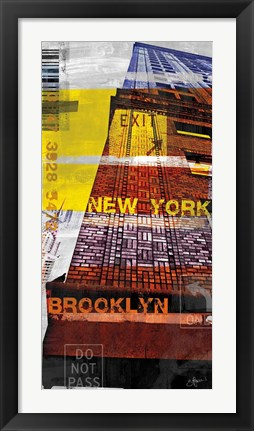 Framed New York Sky III Print
