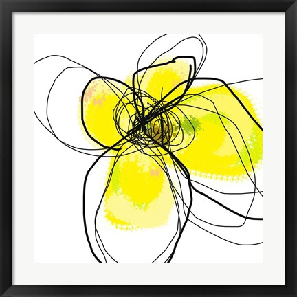Framed Yellow Petals Three Print