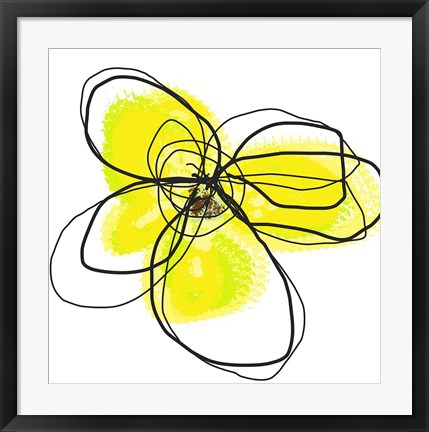 Framed Yellow Petals Two Print