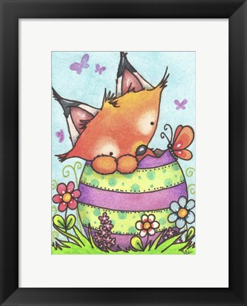 Framed Happy Easter Little Fox Print