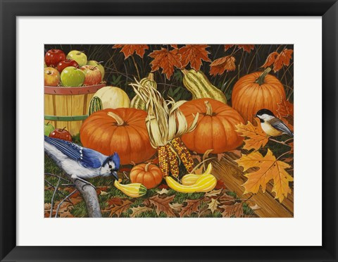 Framed Autumn Bounty Print