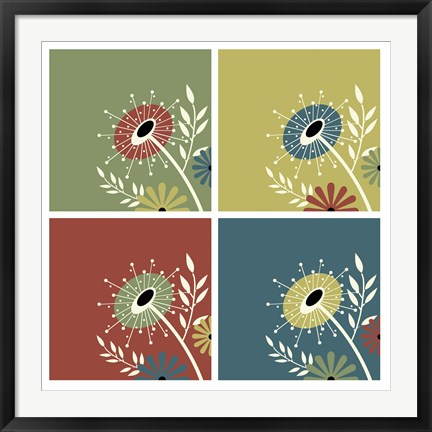Framed Autumn Flowers Print