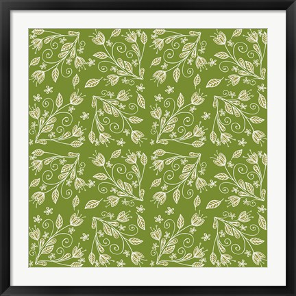 Framed Tulip Vines II Print