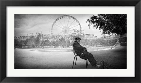 Framed Dreaming in Paris Print