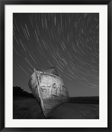Framed Point Reyes II, Black and White Print