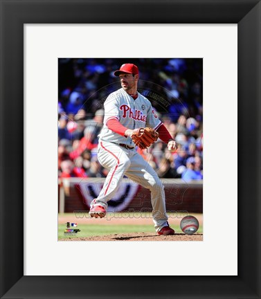 Framed Cliff Lee on field 2014 Print