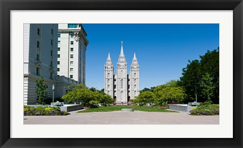 Framed Facade of a church, Mormon Temple, Temple Square, Salt Lake City, Utah Print