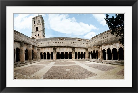 Framed Cloister of St. Trophime, Church Of St. Trophime, Arles, Bouches-Du-Rhone, Provence-Alpes-Cote d'Azur, France Print