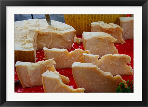 Framed Cheese for sale at weekly market, Arles, Bouches-Du-Rhone, Provence-Alpes-Cote d'Azur, France Print