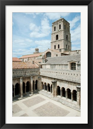 Framed Church Of St. Trophime, Arles, Bouches-Du-Rhone, Provence-Alpes-Cote d'Azur, France Print