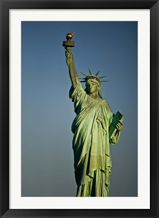 Framed Low angle view of a statue, Statue Of Liberty, Manhattan Print