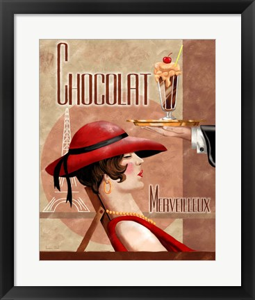 Framed French Chocolate I Print