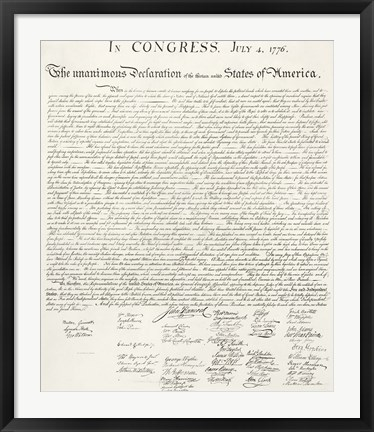 Framed Constitution of the United States Print
