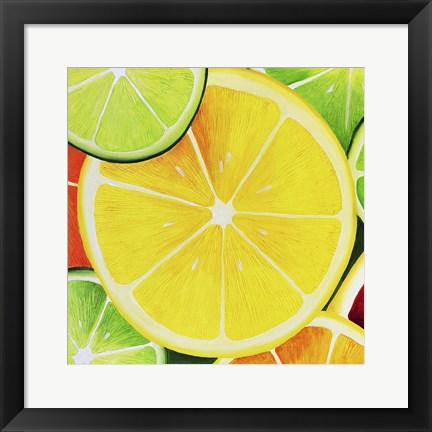 Framed Sliced Lemon Print