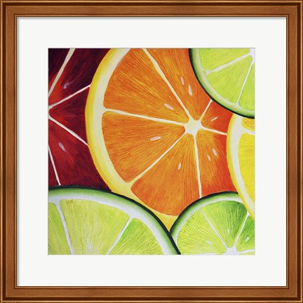 Framed Sliced Orange Print