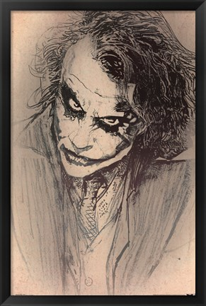 Framed Dark Knight - Sketch Print