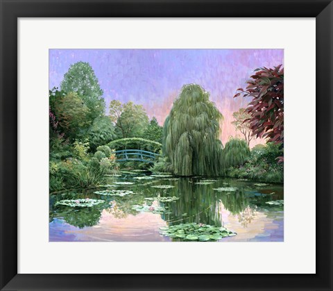 Framed Monet Garden V Print