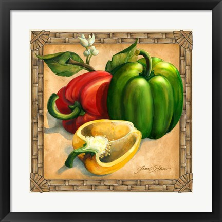 Framed Bell Peppers Print
