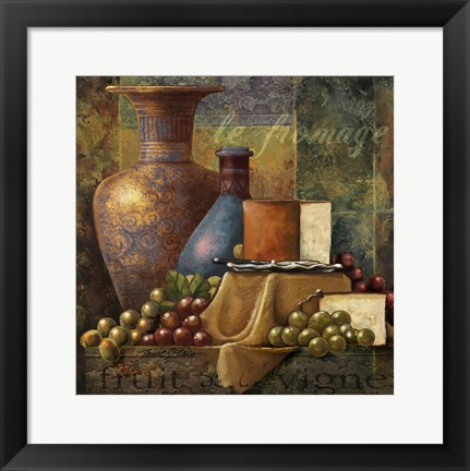 Framed Cheese & Grapes Print