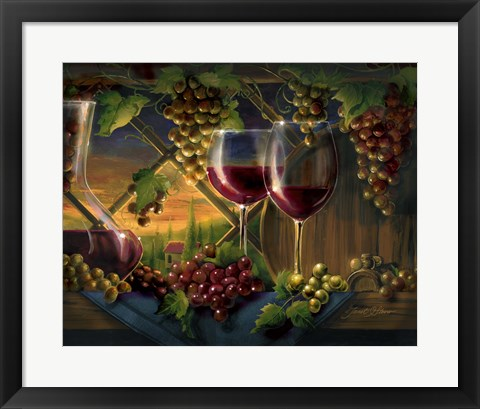 Framed Tuscan Sunset Print
