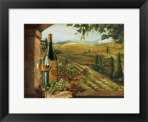 Framed Vineyard Window II Print