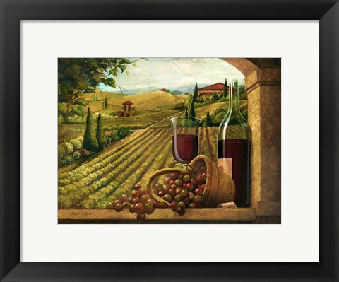 Framed Vineyard Window Print