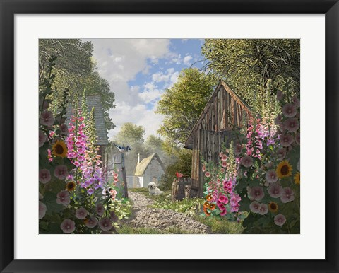 Framed Garden Cottage Print