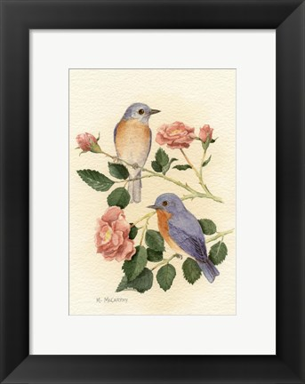 Framed Bluebird I Print