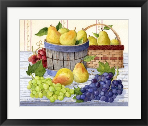 Framed Grapes & Pears Print
