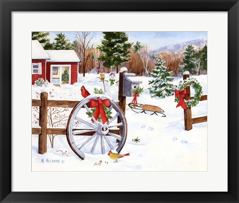 Framed Winter Welcome Print