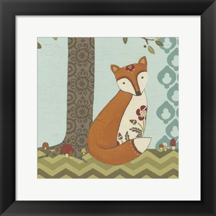 Framed Forest Whimsy III Print